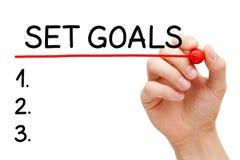 Placez le concept de liste de buts photo stock