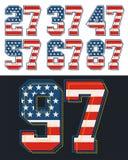 Placez le drapeau de l'Amérique de nombre texturisé, vecteur Illustration Libre de Droits