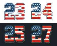 Placez le drapeau de l'Amérique de nombres texturisé Image de vecteur Illustration Stock