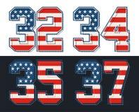 Placez le drapeau de l'Amérique de nombres texturisé Image de vecteur Image libre de droits