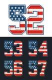 Placez le drapeau de l'Amérique de nombres texturisé Vecteur Photographie stock libre de droits