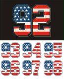 Placez le drapeau de l'Amérique de texture de nombre Illustration Stock