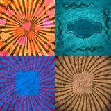 Placez le fond de rayons coloré par vintage EPS10 Vecteur Images stock