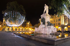 Placez le garibaldi, Nice, France Photo libre de droits