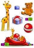 Placez le jouet avec le sac pour Noël Illustration de Vecteur