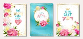 Placez le jour de mères de cartes illustration libre de droits