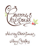 Placez le Joyeux Noël d'illustrations Photos stock