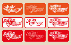 PLACEZ le Joyeux Noël de Logotype sur le fond différent de couleur illustration libre de droits