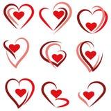 Placez le logo de coeur - vecteur illustration de vecteur