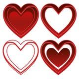 Placez le logo de coeur - vecteur - collection rouge illustration stock