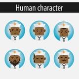 Placez le marin de caractère d'Afro-américain d'hommes Images stock