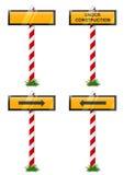Placez le signe et la flèche indicatrice de construction Illustration Stock