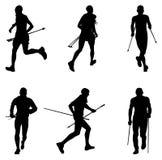 placez le skyrunner d'athlètes d'hommes Images stock