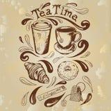 Placez le temps de thé illustration de vecteur