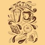 Placez le temps de thé illustration stock