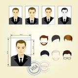 Placez le visage, costumes, habillement, coiffures illustration libre de droits