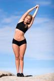 placez le yoga photographie stock libre de droits
