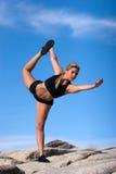 placez le yoga de femme photo stock
