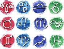 placez le zodiaque de signes Photo libre de droits