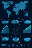Placez les éléments de l'infographics. Image libre de droits