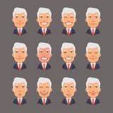Placez les émotions avec Gray Hair Businessman Photos stock