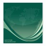 Placez les affaires de vert de fond de vecteur et la bannière courbe Photographie stock libre de droits