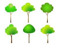 Placez les arbres Vecteur Images stock