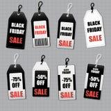 Placez les autocollants des prix de Black Friday Image stock