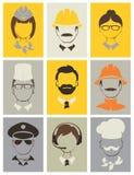 Placez les avatars -- les gens de différentes professions Photographie stock libre de droits