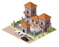 Placez les bâtiments de tuiles Image libre de droits