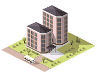 Placez les bâtiments de tuiles Photo libre de droits