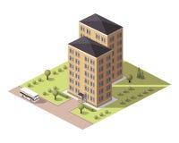 Placez les bâtiments de tuiles Image stock