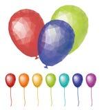 Placez les ballons de couleur de triangle Images libres de droits