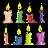 Placez les bougies Photos stock