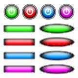 Placez les boutons de couleur de vecteur Image stock