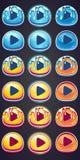 Placez les boutons de pressing pour le jeu en confiture d'oranges de style illustration de vecteur