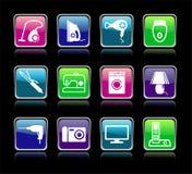 Placez les boutons des appareils ménagers Images libres de droits