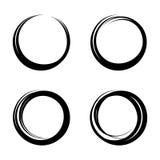 Placez les cercles ronds circulaires de vecteur pour l'élément de conception de marque de note de message illustration de vecteur