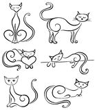 Placez les chats illustration libre de droits