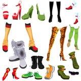 Placez les chaussures Photographie stock