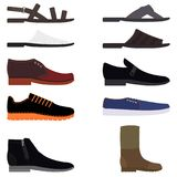Placez les chaussures de mode pour les hommes Photo libre de droits