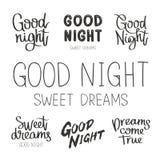 Placez les citations au sujet de bonne nuit Photos stock