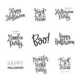 Placez les citations Halloween Images stock