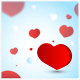 Placez les coeurs d'amour Images stock