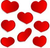 Placez les coeurs d'amour Photo libre de droits