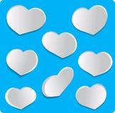 Placez les coeurs d'amour Photographie stock libre de droits