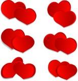 Placez les coeurs d'amour Photographie stock