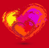 Placez les coeurs d'amour Photo stock