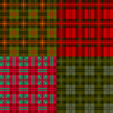 Placez les configurations de plaid, tartan, textile de tissu Images libres de droits