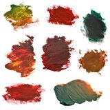 Placez les courses colorées de brosse sur le livre blanc Image stock